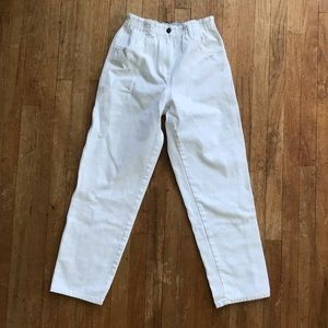 Lands End Girls White Jeans